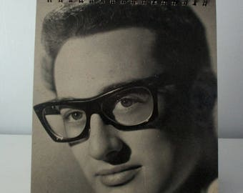 Recycled vinyl album cover notebook - BUDDY HOLLY!