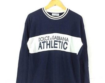 On sale 30% Vintage Dolce and Gabbana Athletic Dolce & Gabbana High Fashion Hip Hop 90s Style Streetwear Jumper Sweatshirt Rare