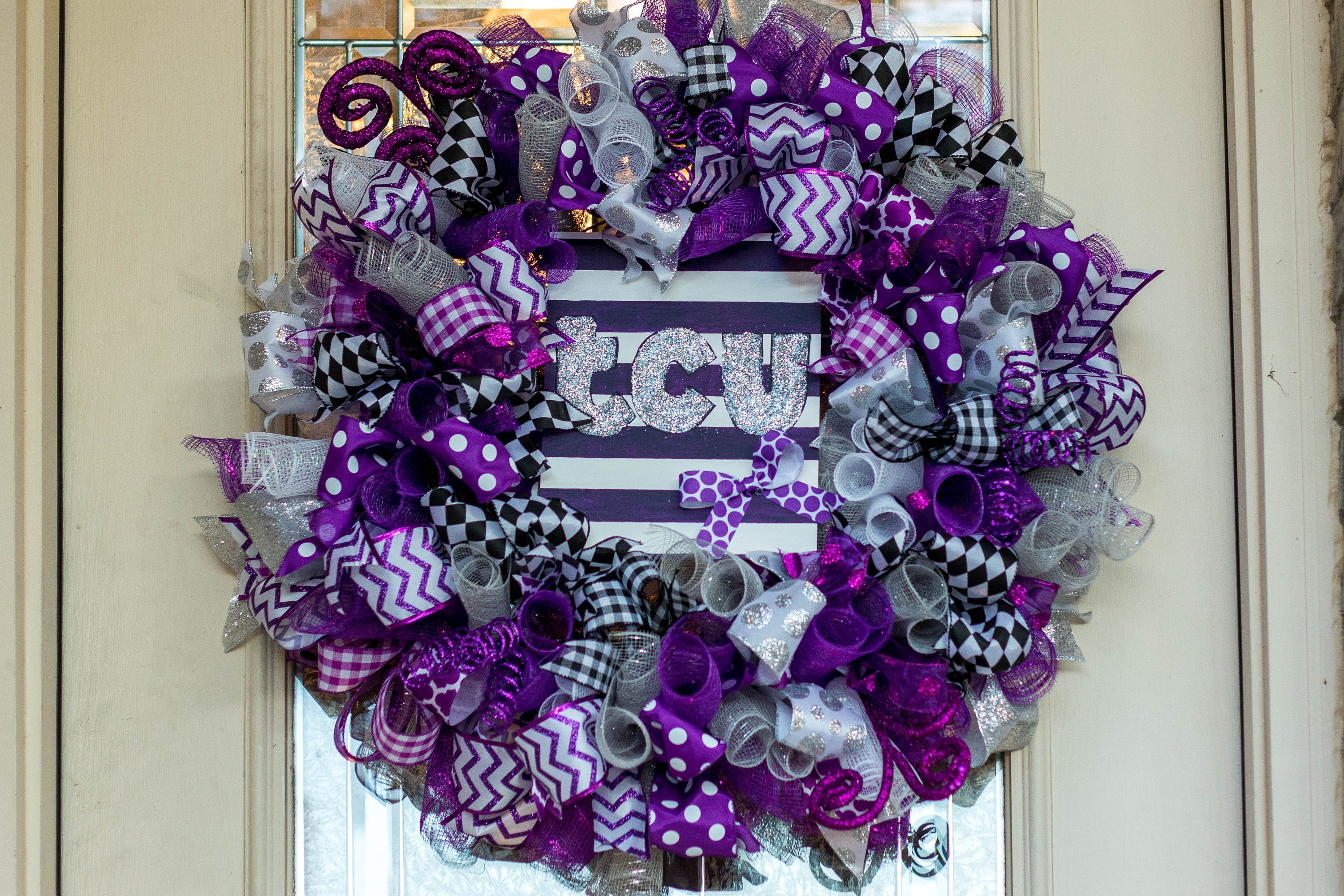 TCU Wreath Texas Christian University Horned Frogs