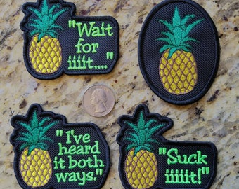 Psych Fan Pineapple Embroidered Patch. Various styles.