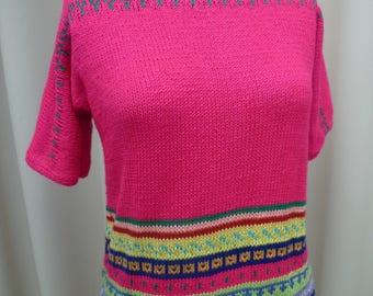 Spring pattern handmade sweater