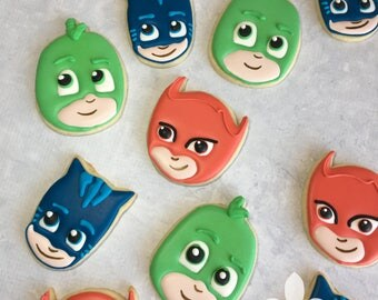 PJ Masks Decorated Cookies