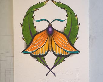 Butterfly painting A5