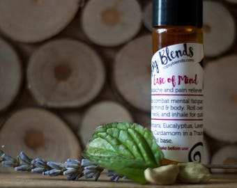Ease of Mind, Headache and Pain Relief - Aromatherapy - Essential Oil - Cooling - Invigorating - All Natural - Gift for him - Gift for her