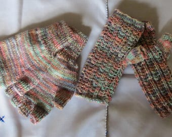 Gloves Fingerless Wrist Warmers Mittens Hand Knitted