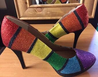 Custom Glitter Heels