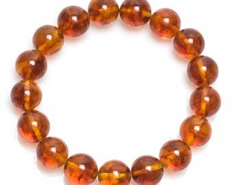 baltic amber bracelet 17gr cognac color Luxamber 琥珀手链