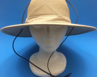 Vintage Henschel Hat Co bucket sun hat sz Medium 1990s