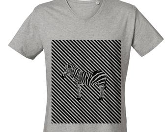 Zebra V Neck T-shirt