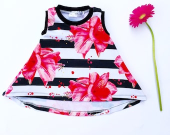 Baby A-Line Dress  | Baby Dress |  Baby Swing Dress | Baby Girl Clothes |  Baby Shower Gift |  Coming Home Outfit