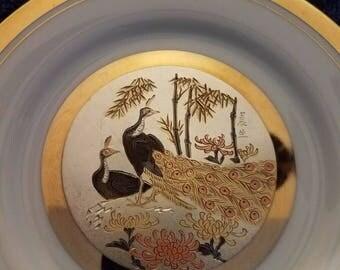 24kt gold Chokin art collector plate.
