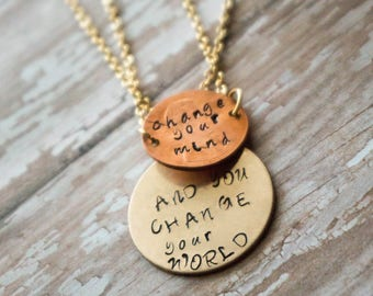 Layered change necklace