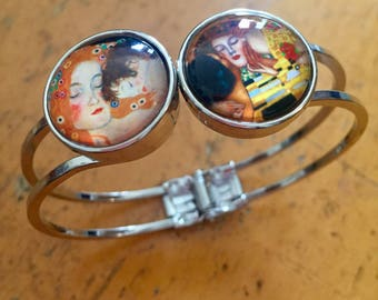 Famous Art jewelry / Gustave Klimt Gift /famous Artist Bracelet / Famous Artist jewelry /art bangle/Famous Artist Klimt Gift Jewellery