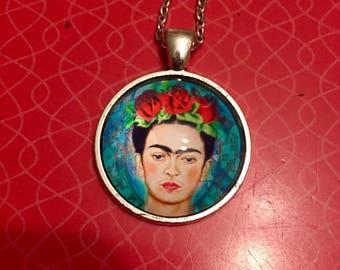 Frida Kahlo inspired Pendant / Frida jewelry gift/ Frida Kahlo fan gift