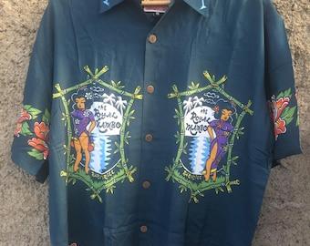 Vintage Mambo Loud Shirts The Royal Mambo Bar & Grill Shirt Hawaiian NOS Beach