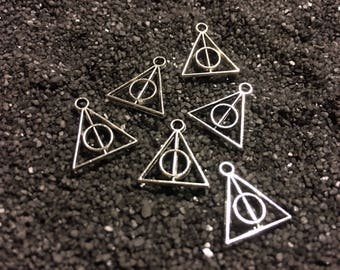 Harry Potter and the Deathly Hallows 6pc Silver Charm Set
