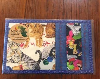 Cats and Yarn Mug Rugs