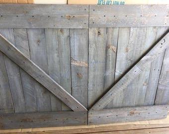 Headboard - Barn Door Headboard or Wall Art - The Lauren -Free Shipping