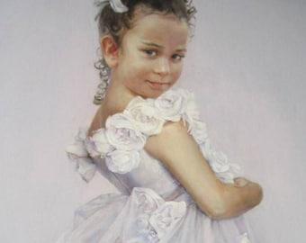 Commission painting on canvas, custom oil portrait, custom child portrait, commission oil portrait, painting to order, custom kid portrait