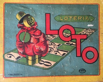 Vintage wooden box. Vintage French Loto Game. Vintage French Box. Loto game. Vintage box. Wooden box Vintage Moon London. loteria