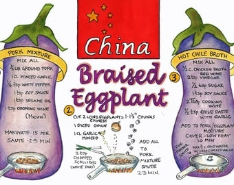Braised Eggplant- a Chinese recipe
