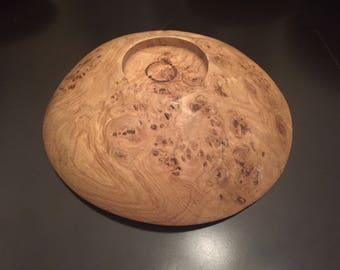 """White oak burl rustic Bowl (11.5""""x3"""")"""