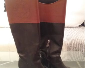 Bally riding boots bicolor, made in Switzerland
