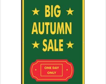 Big Autumn Sale Vinyl Banner