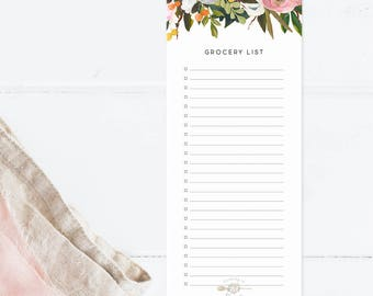 Floral Grocery List