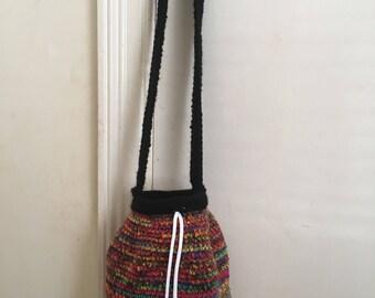 Small Crochet Shoulder Bag.
