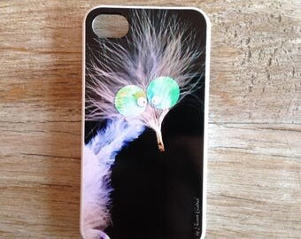 Case Iphone 4 / 4s with Chick black silk