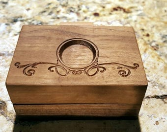 Walnut box with wooden hinge