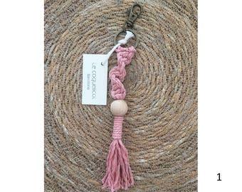 Key ring and bag Boho Macrame hanger