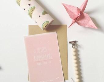 "Pink birthday card - ""Happy birthday"""