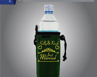 Name & Name Just Married Water Bottle Single Side (WB-W9)