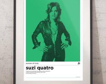 A3 Suzi Quatro Women of Rock Poster