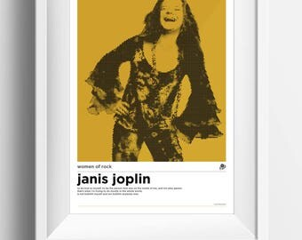 A3 Janis Joplin Women of Rock Poster