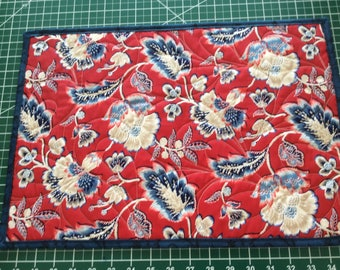 Paisley Red and Blue Flower Placemats