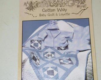 Baby Boy Blues Cotton Way Quilt Layette Pattern 809 13314