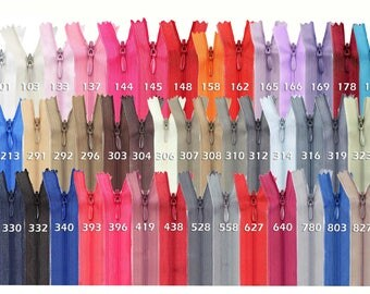50 zippers spiral concealed, 30 cm, undivided, invisible (colour: 310 grey)