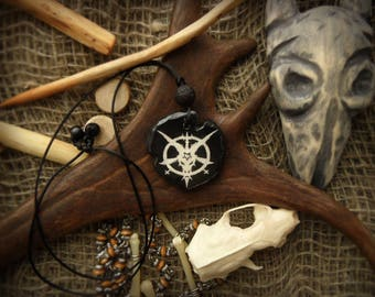 Baphomet/ Baphomet necklace/Pentagram /Satanism /the Baphomet /Satan /Black metal /Occultism /Terrible art/pentagram necklace