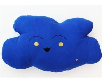 Cushion deco blue cloud