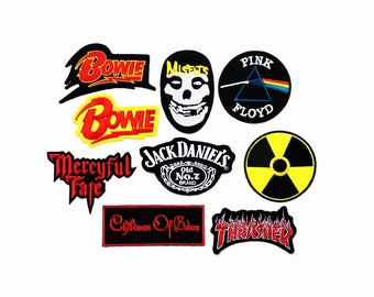 Wholesale Rock Heavy Metal Punk Indy Sew On Embroidered Band Patch Lot 9pcs