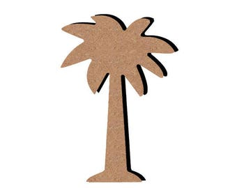 Wooden Palm tree - A paint or decorate