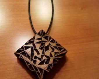 "Hand Carved ""Dark Crystals"" by Wood Bern"