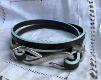 Two Tone Leather Wrap