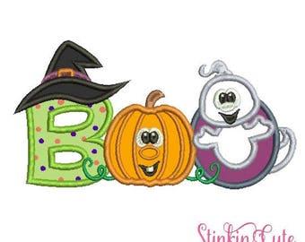 Machine Embroidery Designs Applique Boo 2 Halloween
