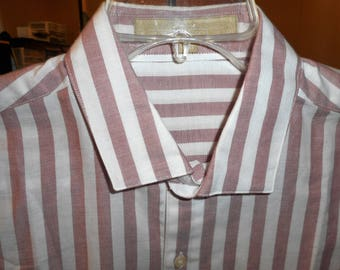 Vintage Shirt   80's    Size 15 1/2 -33    by PERRY ELLIS   Never Worn,
