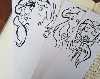 Belle/ Jasmine / Ariel / Aurora disney princess bookmark beauty and the beast/ little mermaid / aladdin