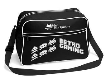 SPACE INVADERS VINTAGE MISTER BLACKWHITE (Mister INVADERS) Designer bag